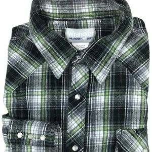 Wrangler Wrancher Western Pearl Snap Shirt Sz 2XL